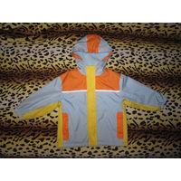 Куртка ветровка на флисе, р.98