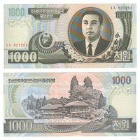 Северная Корея. КНДР.  1000 вон  2002 год  UNC