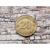 Латвия. 20 сантимов 1992 (не магнетик).