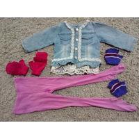 Куртка джинсовая, колготки, перчатки