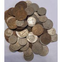 Монеты СССР 258 штук.