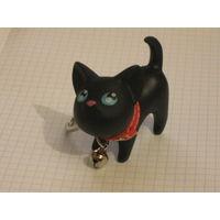 Красивый брелок черный кот или кошка