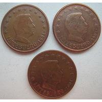 Люксембург 5 евроцентов 2002 г. Цена за 1 шт.