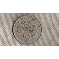Ямайка 10 центов 1972/флора/бабочка/(NS)
