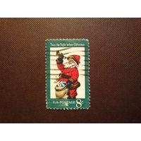 США 1972 г.Рождество - Санта-Клаус.