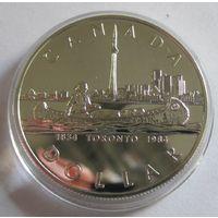 Канада, доллар, 1984, серебро