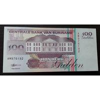 Суринам. 100 гульденов 1998 г. - состояние!