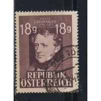 Австрия Респ 1947 Франц Грильпарцер 75-летие смерти #802