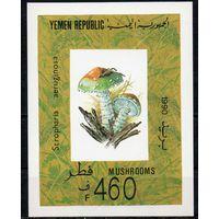 Флора Грибы Йемен 1990 год 1 чистый блок