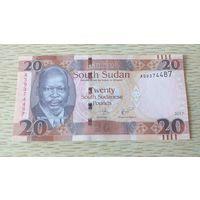Южный Судан 20 фунтов 2017 UNC