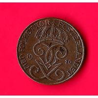 09-09 Швеция 2 эре 1910 г. Единственное предложение монеты данного года на АУ
