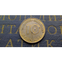 10 пфеннигов 1992 (J) Германия ФРГ #02