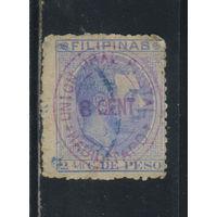 Испания Колонии Филиппины 1887 Альфонс XII Надп Стандарт #117