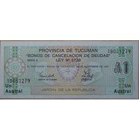Аргентина провинция Тукуман 1 аустраль 1991