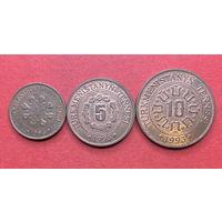 Туркмения, 1,5,10 тенге 1993г.
