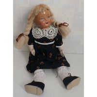 Кукла старинная, антикварная. Прессопилки, папье маше. Старая кукла