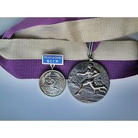 Знак + медаль по бегу (СССР)