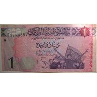 Ливия 1 динар 2013 г.