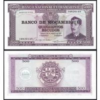 Мозамбик 500 эскудо 1967 с надпечаткой 1976 UNC