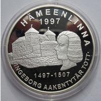 Финляндия, 20 евро, 1997, серебро, пруф