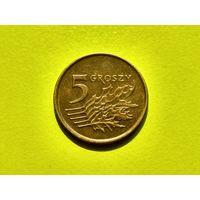 Польша. 5 грошей 1991.