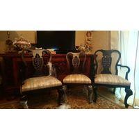 Комплект стульев (6 штук), вишня, массив, 1920г.
