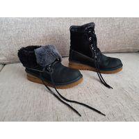 Ботинки зимние, замша+нубук+цигейка, р.38