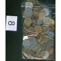 Подборка (сборка) монет без СССР,России,Украины + альбом для монет (карманник) на 52 монеты