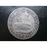 Сигизмунд III Ваза 6 грошей (шостак) 1596 г.Мальброк.