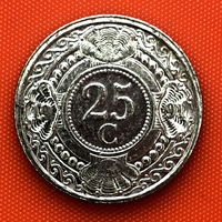 111-29 Нидерландские Антильские острова, 25 центов 1991 г.
