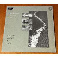 """John McLaughlin / Al Di Meola / Paco De Lucia """"Passion Grace & Fire"""" LP, 1983"""