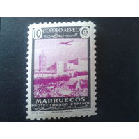 Марокко 1938 протекторат Испании авиапочта
