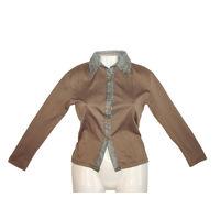 Утепленная блузка-рубашка на тоненькой баечке на 46-48 размер. Прекрасный вариант делового стиля одежды для прохладного офиса. Италия.