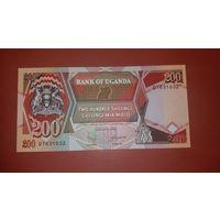 Банкнота    200 шиллингов   Уганда   1996