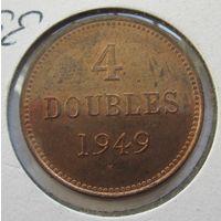 Гернси 4 дубля 1949 - холдер, состояние, тираж 19.000!