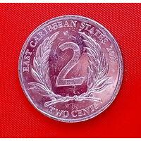 36-09 Восточные Карибы, 2 цента 2011 г.