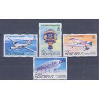 [361] Монтсеррат 1983. Авиация.Самолеты,дирижабль,воздушный шар.