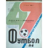 1984 год Динамо Минск--Черноморец Одесса
