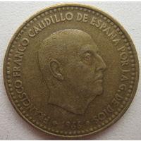 Испания 1 песета 1966 (67) г. (g)