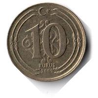 Турция. 10 курушей. 2009 г.
