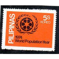 Филиппины. Год народонаселения. 1974.