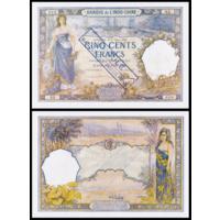 [КОПИЯ] Таити 500 франков 1923-26 г.г. (аннулированный) водяной знак