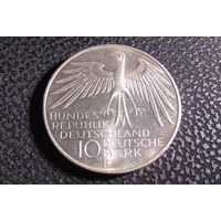 10 марок 1972 F. Германия. XX летние Олимпийские Игры, Мюнхен 1972 - Стадион. Серебро 0.625.