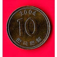 45-15 Южная Корея, 10 вон 2004 г.