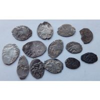 13 монет!!! Царское серебро!!! Копейки и прочее... С 1 рубля!!! Без МЦ!!! 100% оригинал!!!
