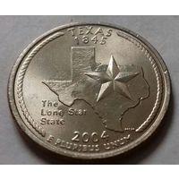 25 центов, квотер США, штат Техас, D