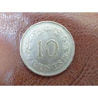 10 центов 1972 Мальта