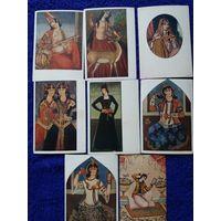 Набор почтовых карточек  Персидская живопись 18 века 8 шт лот 16