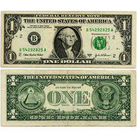 США. 1 доллар (образца 2003 года, 2003A, B, Нью-Йорк, P515b)
