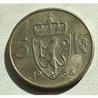 Норвегия 5 крон, 1966 4-16-7